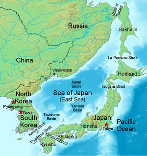 La ss japan geography flashcards by proprofs for Ocean definition geography