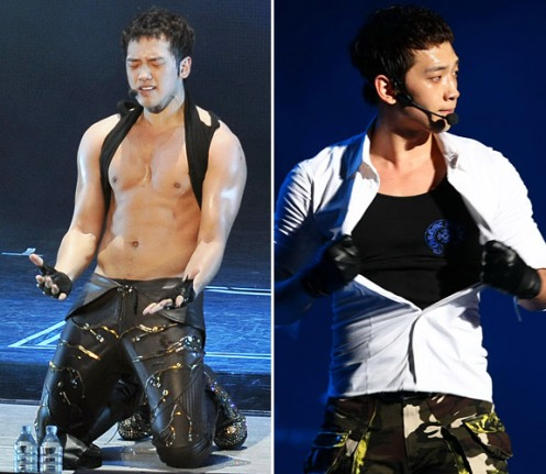 Rain performs on the stage during his concert on March 26, 2011 in Beijing, China.  Photo: ChinaFotoPress/Getty Images