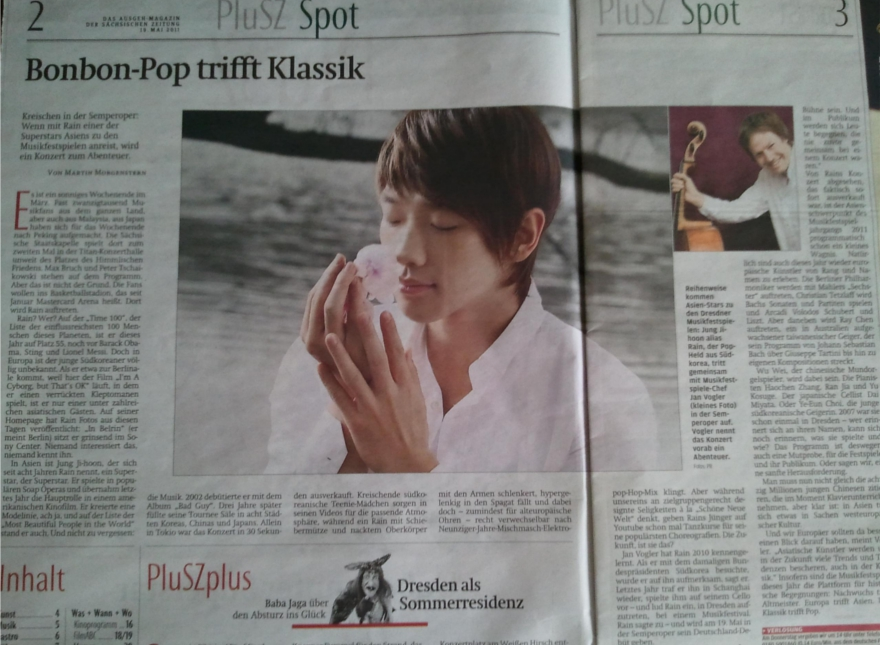 [19/05/2011] Fotos de Rain en el periódico alemán Maga2b