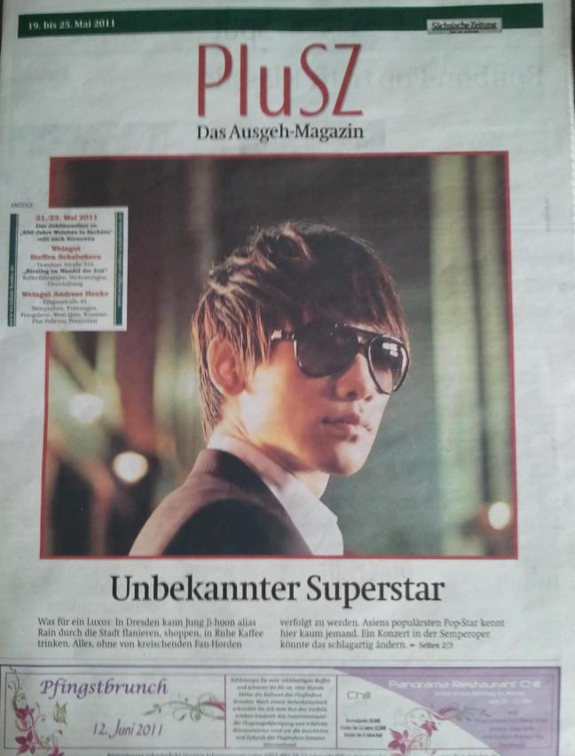 [19/05/2011] Fotos de Rain en el periódico alemán Maga3b