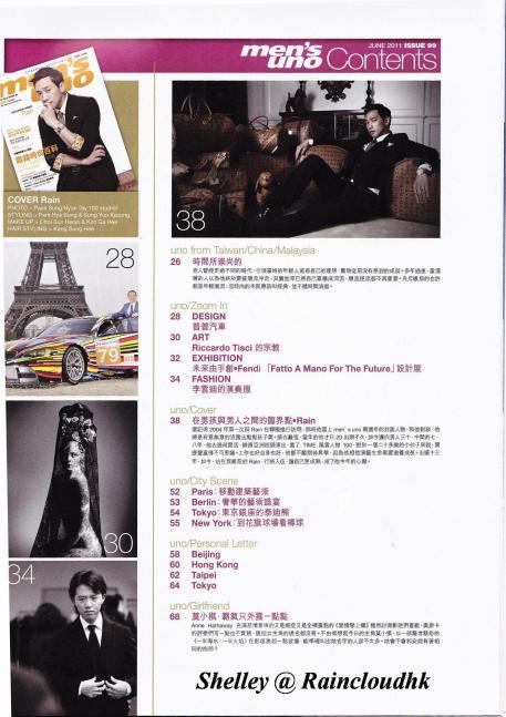 [02/06/2011] POrtada de la revista Men's One Hong Kong Junio 2011 21