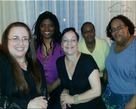 Terri, Alisa, Gee, Talitha, and Stephe, in that order. Marie is graciously taking the picture. :)