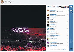 CLICKED WITH HER: A Girls' Generation member posts a pic of the Thai display on her Facebook page.