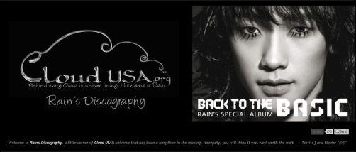 Rain's Discography