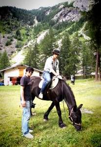 Rain on horse