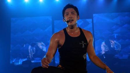 K-pop star Rain performs at his last concert in Seoul, September 2011, before his army enlistment. -- FILE PHOTO: CELESTIAL MOVIES