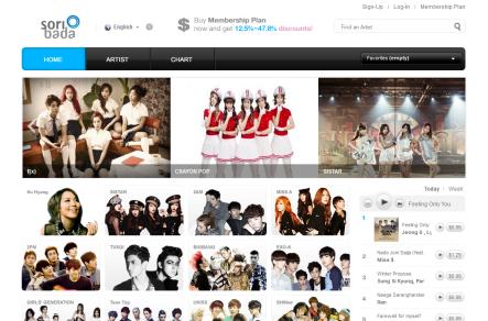 Soribada Homepage