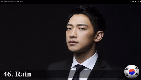 Rain - One of 2013's Most Handsome Faces